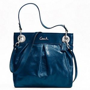 Coach Ashley Hippie In Cobalt Blue Patent Leather